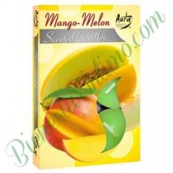 Velas Aromáticas Aura 6ud Melon&Mango