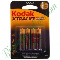 4 Pilas Alkalinas AAA Kodak