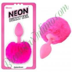 Pipedrem Neon Bunny Tail Rosa