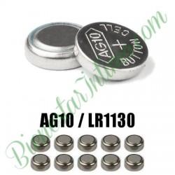 10 Pilas LR1130 Alkalinas AG10