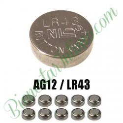 10 Pilas LR43 Alkalinas AG12