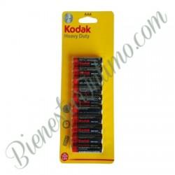 10 Pilas AAA Kodak Heavy Duty