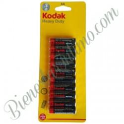 10 Pilas AA Kodak Heavy Duty
